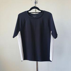 Banana Republic Black Shirt with White Panel